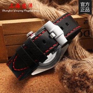 Hakiki deri izle bantları için Tudor saat kayışı siyah/kahverengi saat kayışı pin çelik buckle20mm 22mm 24mm