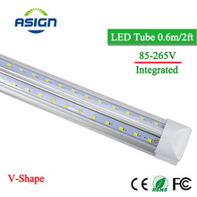 T8 led bulb V-Integrated tube 60cm 20W Aluminum integred led bulbs tubes led lamp AC85V-265V smd2835 warm white cold white bar