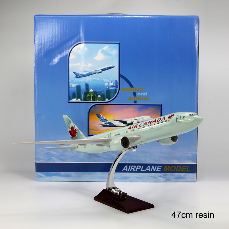 47cm Boeing 777 Air Canada Airplane Model Resin B777 Airbus Static Aircraft Model Canadian Boeing 777 Airways C-FIVK Model 1:150 цена