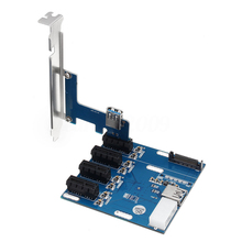 USB 3.0 PCI-E Post Card 1X Expansion Kit PCI-E To PCIe Riser Card 1 to 4 Ports Switch Multiplier Hub Pci Sata Adapter недорого