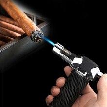 Kitchen Outdoor Barbecue Ignition Windproof lighter Firepower fierce Metal Torch Spray gun Butane Gas lighter Blue flame стоимость