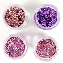 4 COLORS GRADIENT GLITTER MIXED 0.2-1MM POWDER SEQUINS SHINING DUST NAIL ART DECORATION UNICORN 10ML