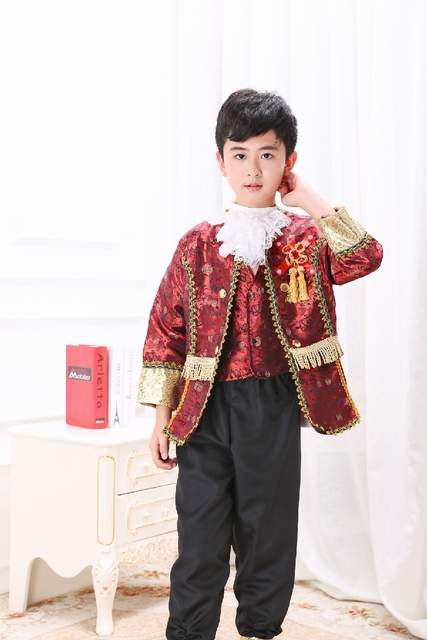 Free ship childrenu0027s boys wine red /golden yellow medieval suit with trousers stage costume renaissance  sc 1 st  AliExpress.com & Free ship childrenu0027s boys wine red /golden yellow medieval suit with ...