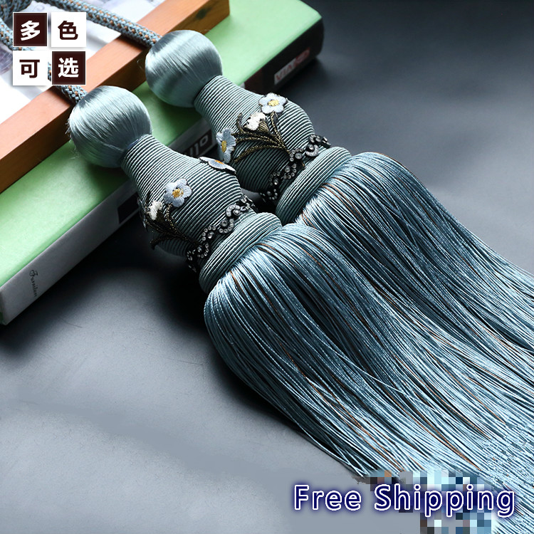 Fashion New Silk Tassels Multi Color Tassel Fringe Curtain Tassel For Window Living Room Beaded Curtain Trimmings Free Shipping