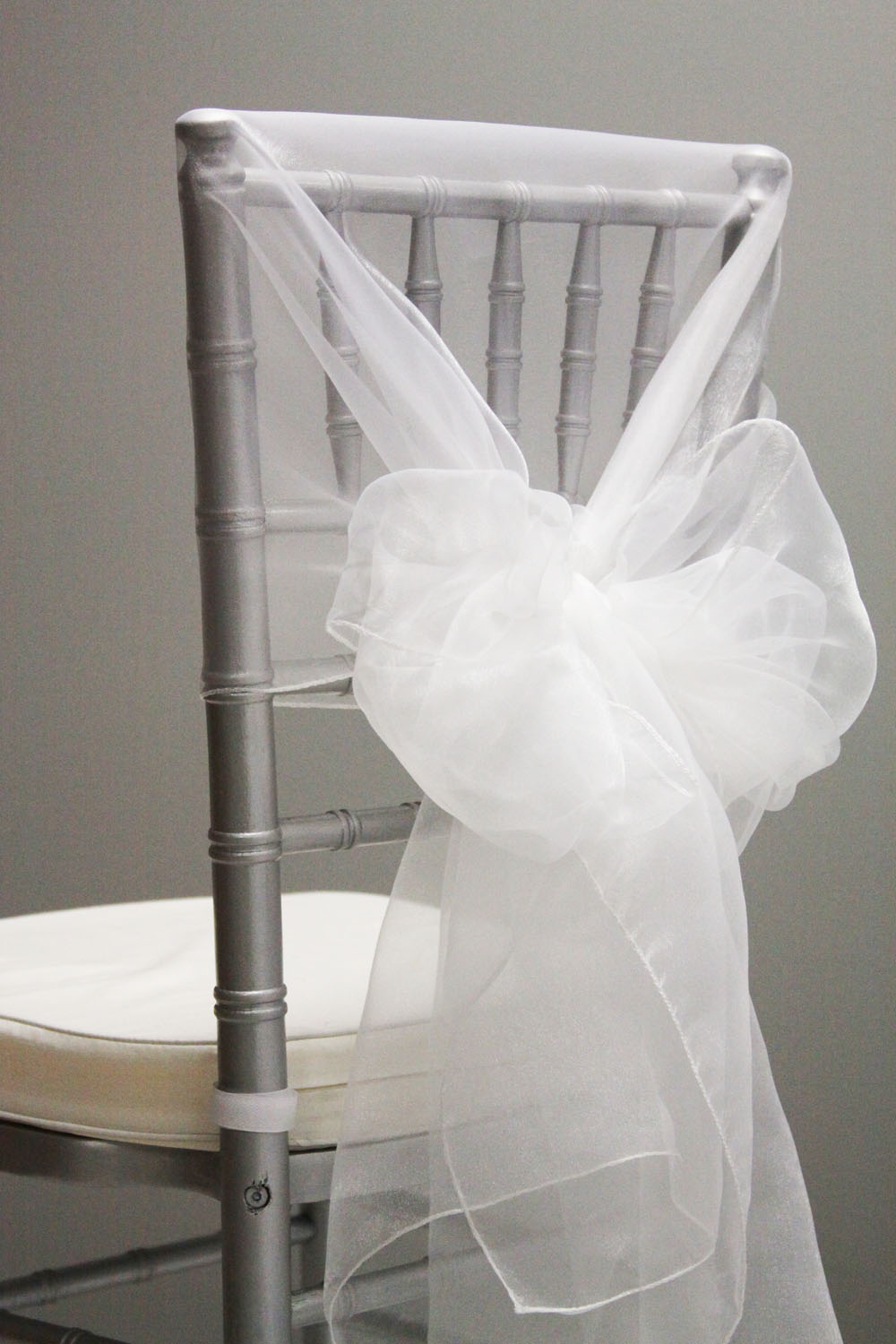 white chair sashes office zody high quality 120 pcs organza cover hood back cap for wedding event decoration