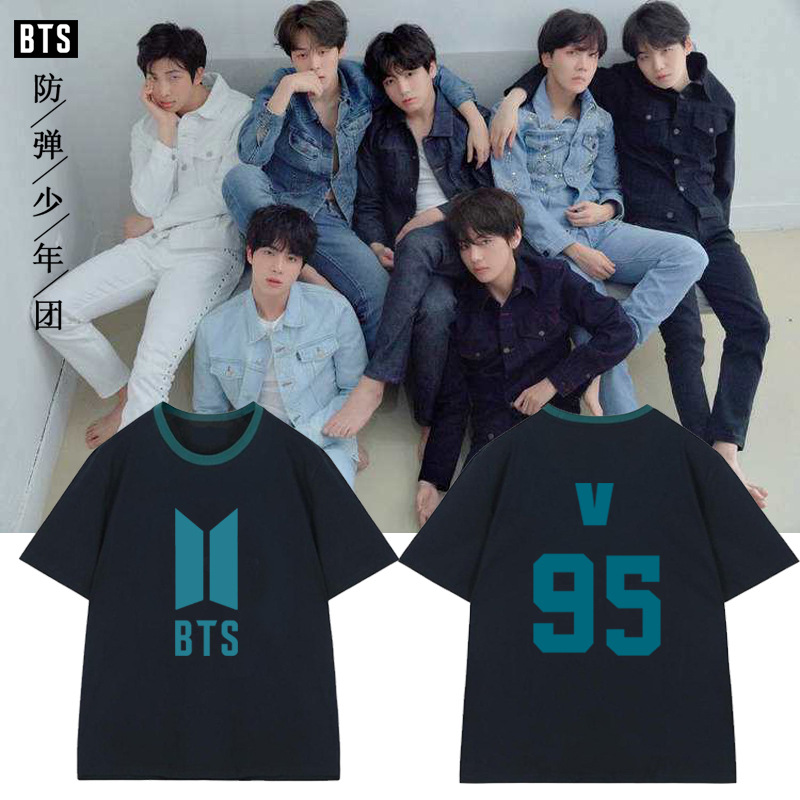 kpop bts Bangtan Boys names of the members of the surrounding sleeve T-shirt loose short-sleeved summer 2018 new cotton k-pop