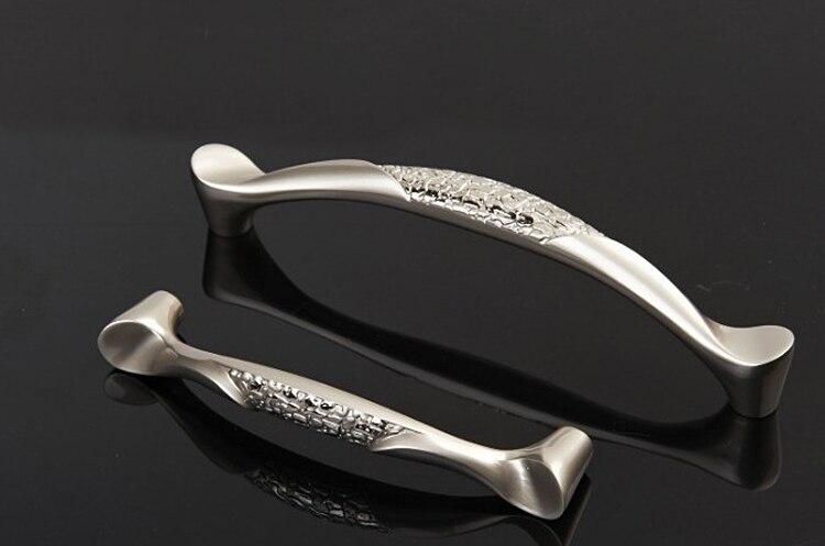 unlocks new design modern satin nickel cabinet hardware handle drawer pull knob cc