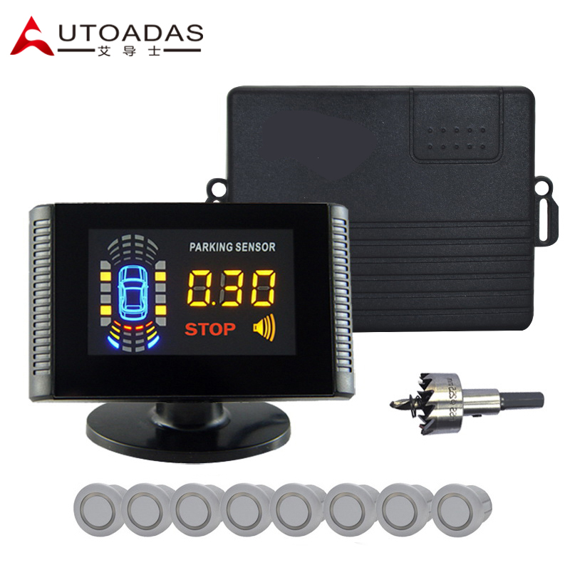 AUTOADAS 509 Voiture Parking Capteur 8 Buzzar Alarme 21.3mm aide au stationnement parking radar Inverse Automobile Radar de Recul