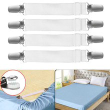 Sheet Straps Clips 4 Pack Sheet Band Straps Suspenders  Adjustable Bed Corner Holder Elastic Fasteners Clips Grippers Mattress S