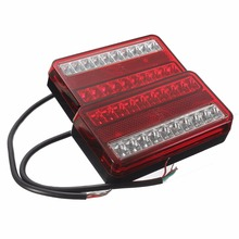 1Pair 20LED Car Rear Tail Lights 12V Truck Trailer Stop Brake Lamp Turn Signal Light