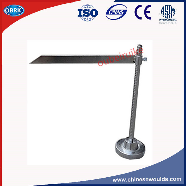 Concrete Slump Cone Test Apparatus Steel Ruler With Stainless Steel Scaleplate