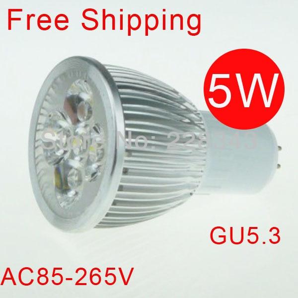 Անվճար առաքում 6PCS 5W GU5.3 AC 85V-265V 110V 220V - LED լուսավորություն - Լուսանկար 1