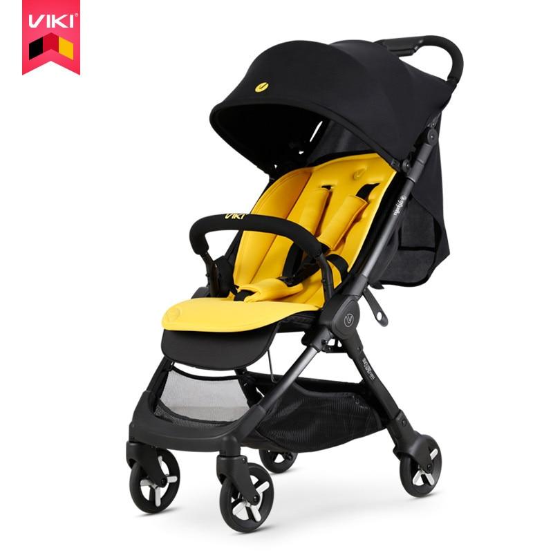 5Kg Lightweight Luxury Hot Mom Stroller 3 in 1 Travel Pram Folding Portable Pink On Plane Baby Trolley