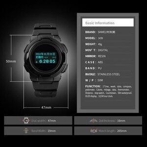 Image 2 - Relojes deportivos para hombre, marca SKMEI, relojes Chronos de goma para hombre, reloj Digital LED resistente al agua, reloj militar para hombre, reloj Masculino