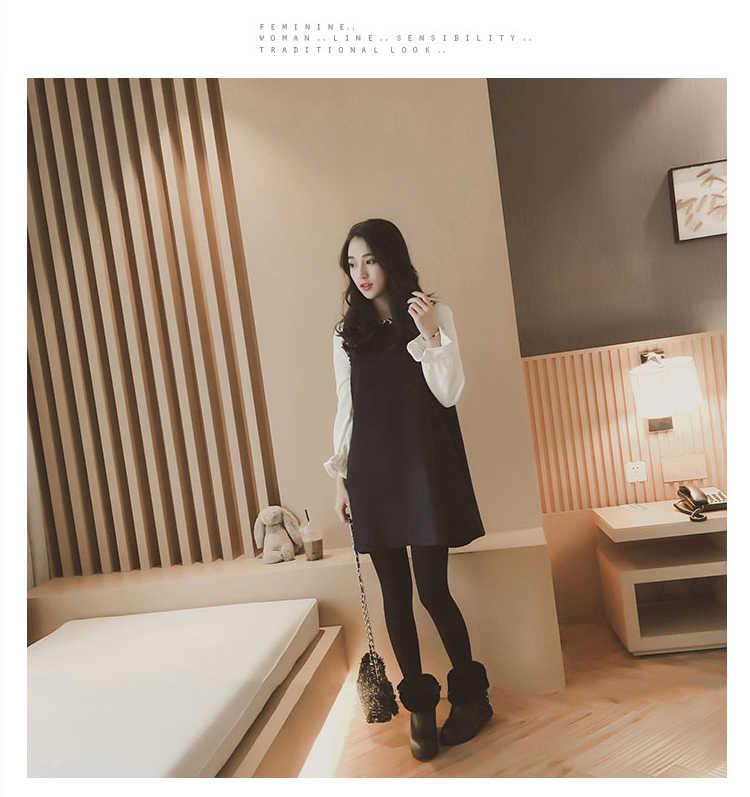 c3e5c152d67c9 ... Fashion style chiffon sleeve dresses patchwork pregnant women long  skirt loose a-line shirts plus ...