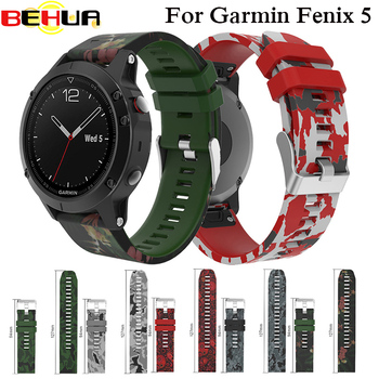 Replacement Silicagel Watch Band Strap For Garmin Fenix 5 GPS Quick Release KIT Install Watchband Smart Strap WristBand Silicone