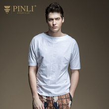 Pinli Time limited Fashion Patchwork No 2017 Summer New Male Stitching Collar Raglan Sleeve Short Sleeved