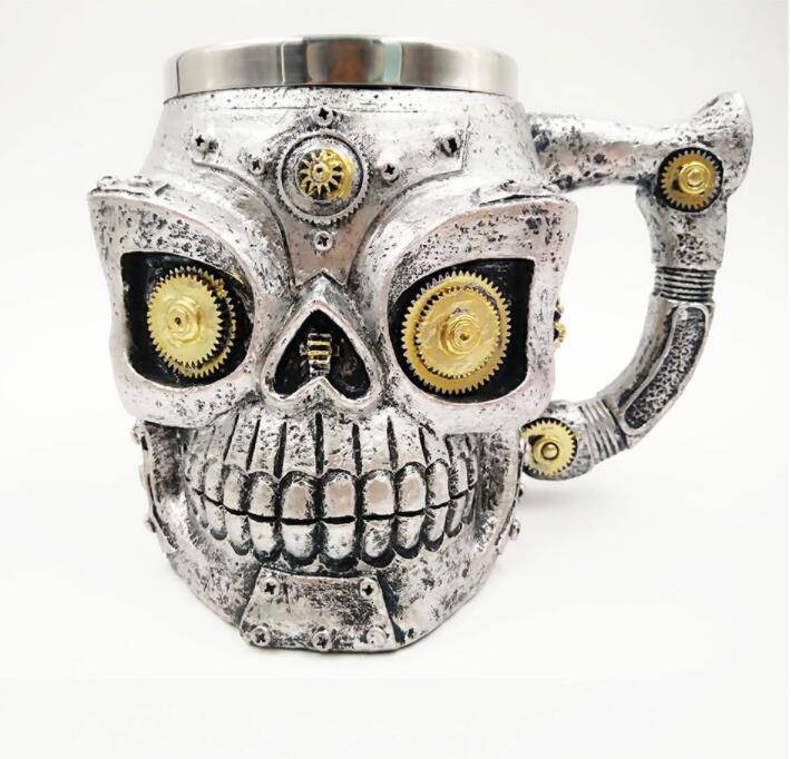 stainless steel mug skull mug halloween carnival festival holiday coffee cup