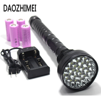 50000Lumens Flashlight XML T6 x28 LED tactical torch Flash Light Torch Led powerful police Camping Lamp Outdoor Lighting