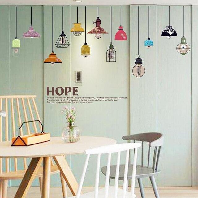 Bunte Kronleuchter Englisch Brief Wandaufkleber Aufkleber Home Papier Kunst  Bild Diy Wandmalereien Kids Nursery Baby Wohnzimmer