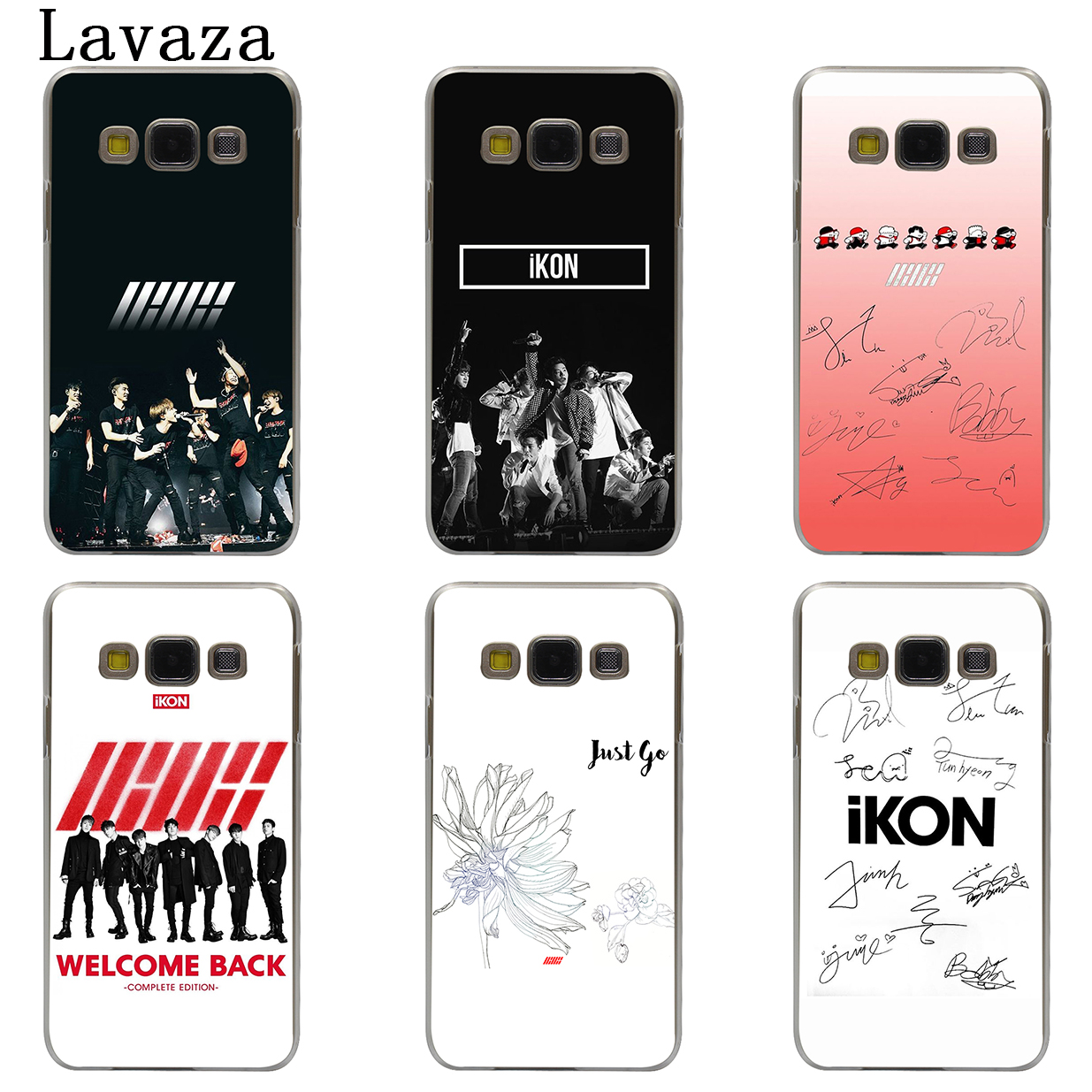 US $1 61 40% OFF|Lavaza IKON Kpop Hard Phone Case Shell for Samsung Galaxy  A3 A5 2017 A9 A8 A6 Plus 2018 Note 8 9 Cover-in Half-wrapped Cases from