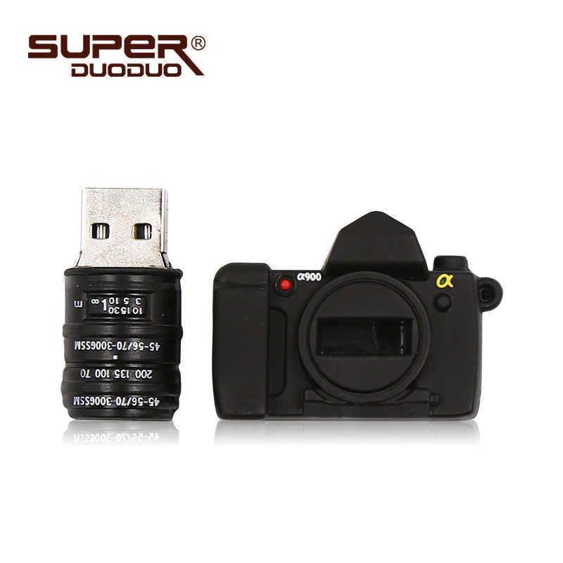 Pendrive 128 gb USB דיסק און קי 4 gb 8 gb 16 gb 32 gb 64 gb 128 gb usb מקל קריקטורה SLR מצלמה usb פלאש עט כונן 256 gb דיסק און קי