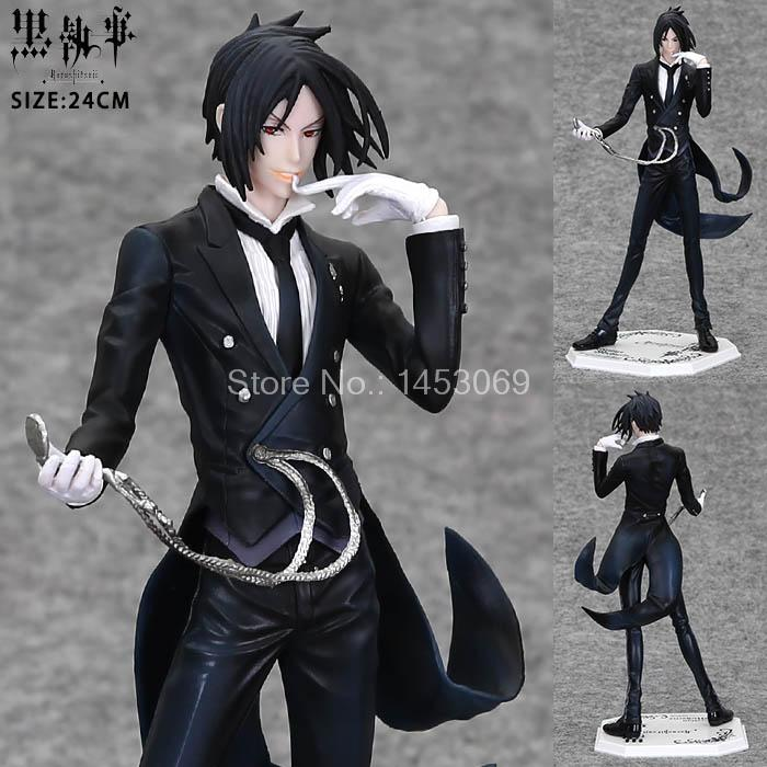 Anime Black Butler Sebastian Michaelis PVC Action Figure Collectible Model Toy 24cm shfiguarts batman injustice ver pvc action figure collectible model toy 16cm kt1840