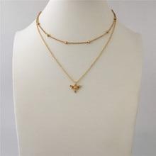 Модные украшения золотого цвета ожерелье с кулоном «пчела» для женщин и девушек