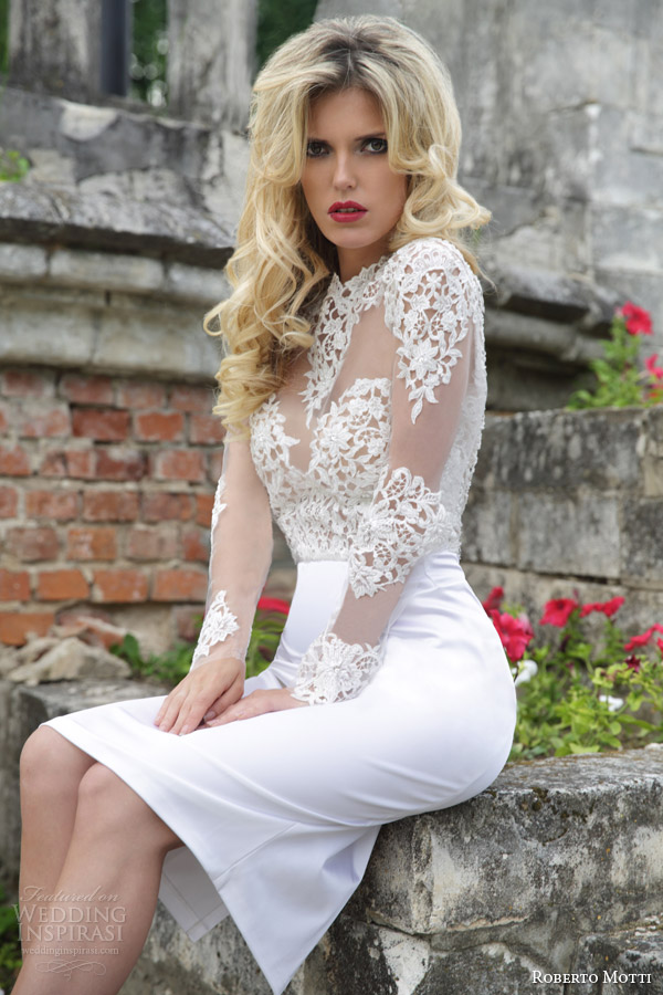 Aliexpress buy short wedding dresses 2017 white satin o neck aliexpress buy short wedding dresses 2017 white satin o neck appliqued full sleeves backless straight knee length bride gown robes de soriee from junglespirit Image collections