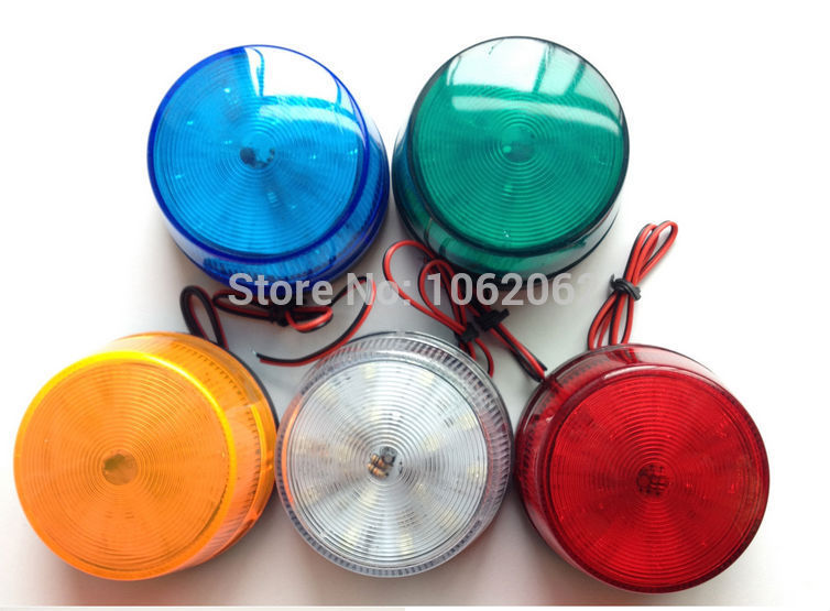 5 Color 12V Security Alarm Strobe Signal Warning Light  LED Lamp Flashing Light 1PC