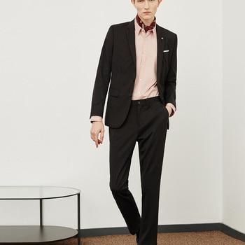 Hot Business Suit Blazer Masculino Slim Fit Groom Tuxedos Wedding Suit 2 Pcs (Jacket+Pants) Gentlemen Terno Masculino Suit Men