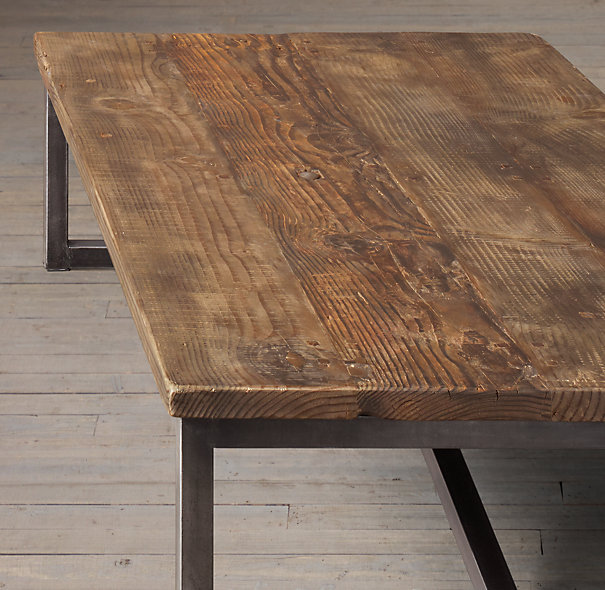 French American Furniture , Wrought Iron Furniture, Wrought Iron Coffee  Table Made Of Old Elm Wood Coffee Table Casual Coffee Ta In Coffee Tables  From ...