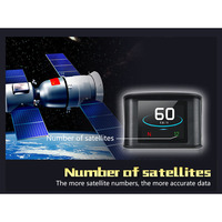 Hot T600 Car GPS HUD Head Up Display Overspeed Alarm Scanner LCD Speedometer BX
