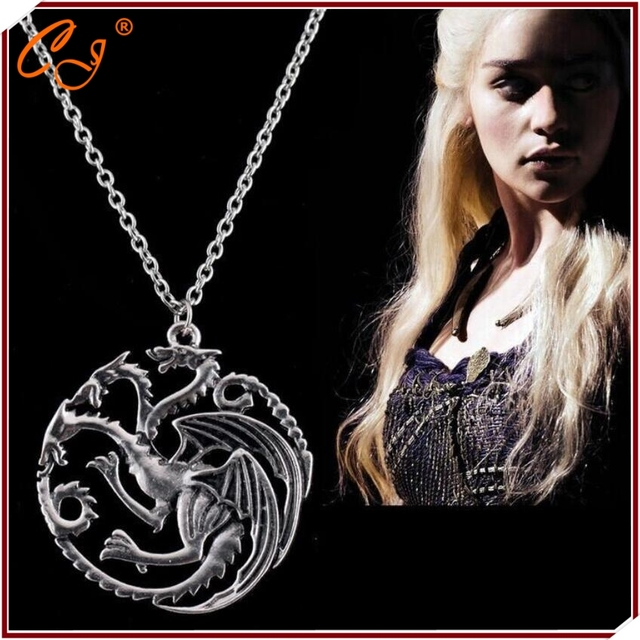 The Song of Ice and Fre Power Game Dragon Lady Necklace & Pendant