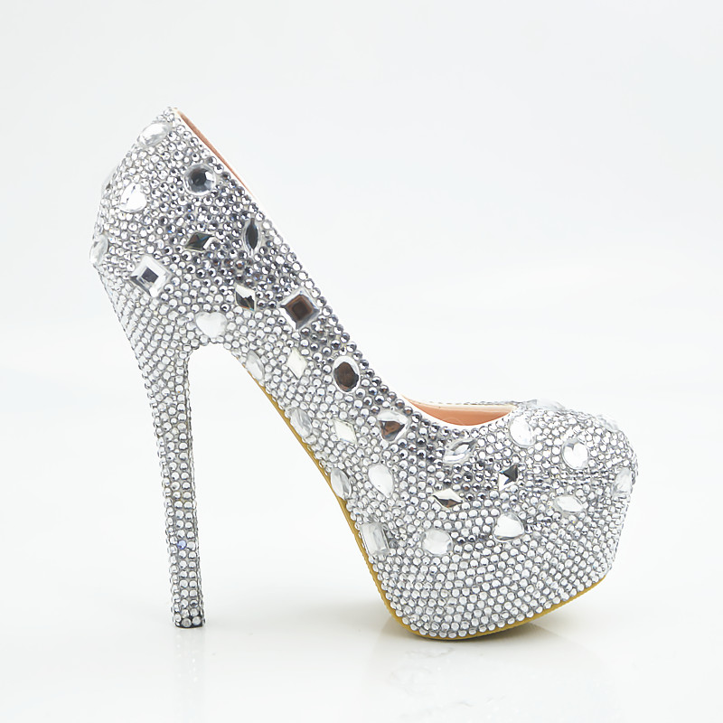 3bd1b9883cd Hello Kitty Silver Rhinestone Bridal Wedding Shoes Graudation Party ...