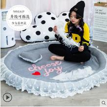 145cm Coral Velvet Chair Floor Mat Unicorn Printed Round Carpet for Living Room Children Bedroom Play Area Outdoor Rugs Home Tex