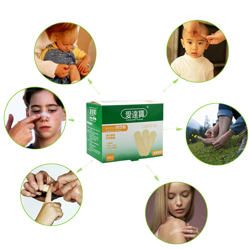Купить с кэшбэком 160 Pcs Medical Band Aid Breathable Hemostasis Adhesive Bandage Wound First Aid Supplies Emergency Kit Band-aid Paste for Family