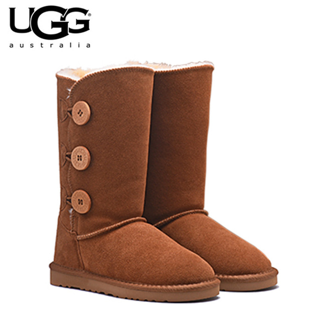 2018 Original New Arrival BOTAS UGG 1873 Mulheres uggs sapatos de neve Sexy do Inverno Botas de pele de Carneiro da Neve Curto Clássico das Mulheres bota