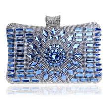 Baru kaca berlian perak evening tas top kualitas emas clutch bag tas pesta  elegan biru gaun 38f5146f09