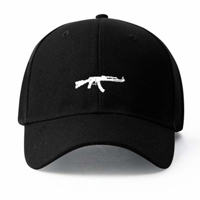 2018 US Fashion Ak47 Snapback Hip Hop Cap Top Selling Uzi Gun Baseball Capp Curve Visor 6 Panel Hat Casquette De Marque