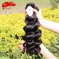 Девы бирманский волнистые 3 шт. человеческих волос связки natural black 100 г/шт., 100% необработанной burmesse волна вьющиеся волосы