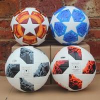 New 18 19 League Soccer Ball 2018 World Cup Red Match Balls PU high grade seamless paste skin football ball Size 5