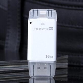 10 pçs/lote i flash Drive otg e usb pc 4 GB 8 GB 16 GB 32 GB 64 GB pen drive usb memoria usb sticks usb para iPhone6 sem pacote
