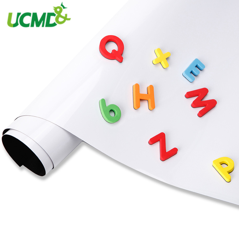 Self Adhesive Soft WhiteBoard Wall Sticker Hold Magnets Dry Wipe Flexible Teaching Drawing Writing Message Whiteboard Home Decor