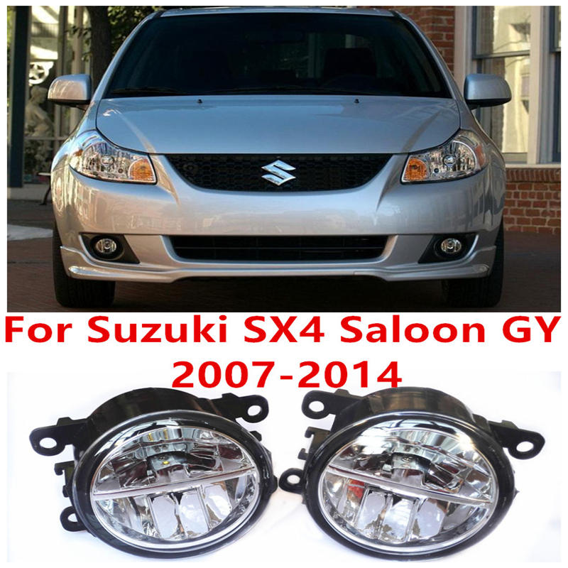 ФОТО For Suzuki SX4 Saloon GY  2007-2014 10W Fog Light LED DRL Daytime Running Lights Car Styling lamps