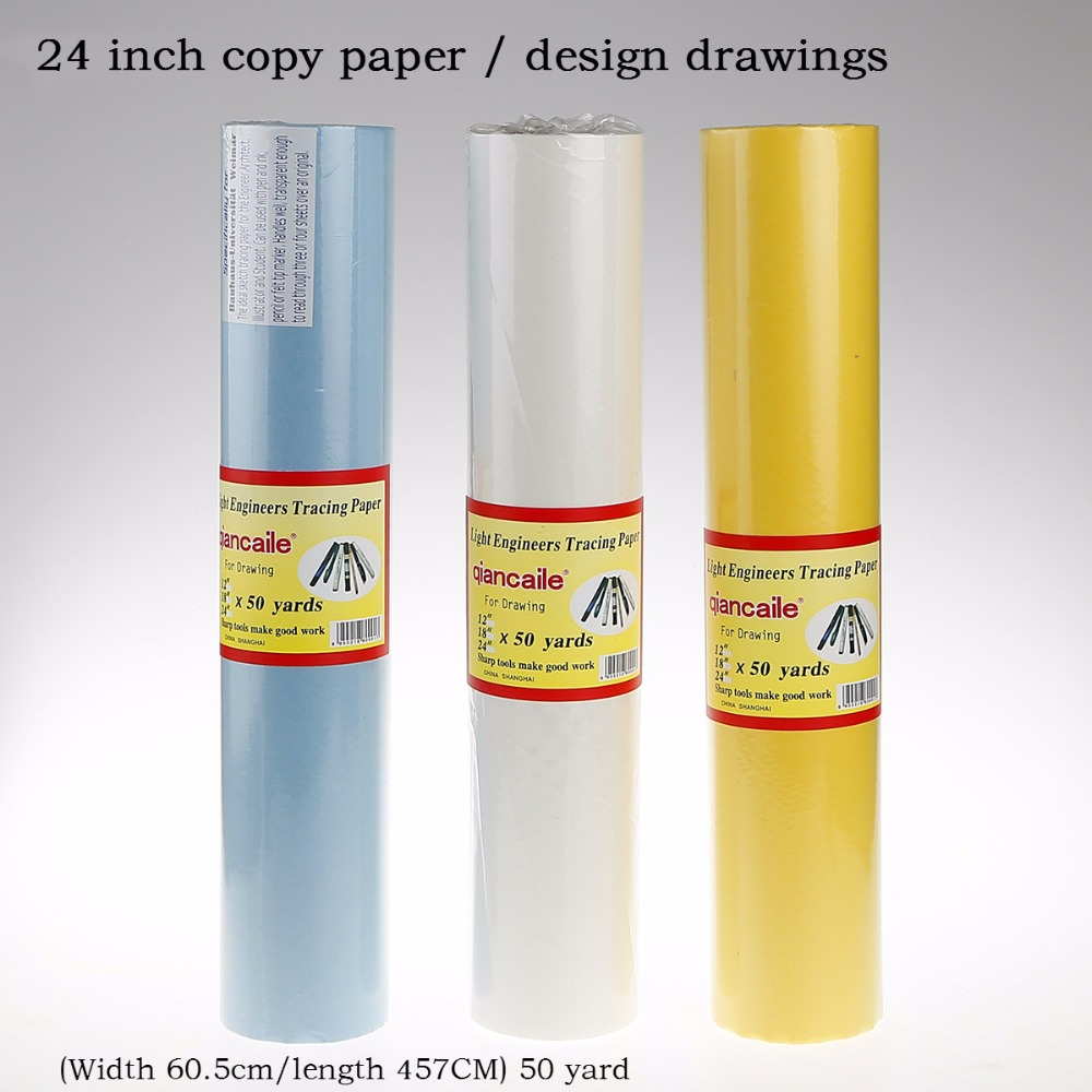 купить 24-inch copy paper transparent paper tracing calligraphy Sulfuric acid paper fountain pen sketch tracing paper design недорого