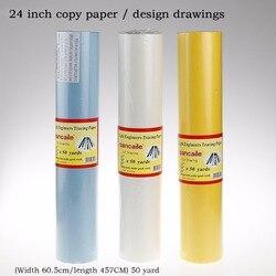 Papel de copia de 24 pulgadas, papel transparente para calcar, caligrafía, ácido sulfúrico, pluma estilográfica, dibujo, diseño de papel de calco