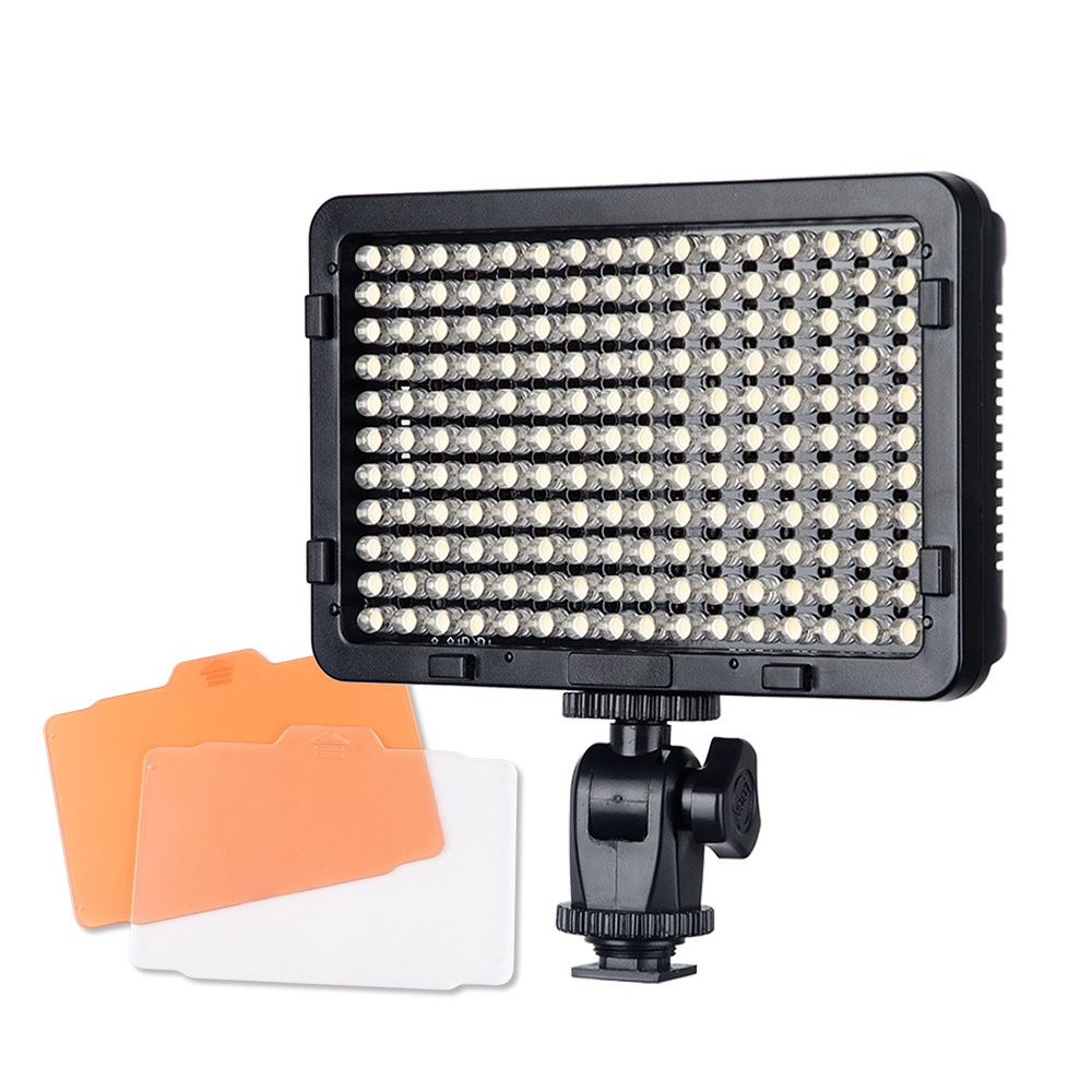 176 LED Video Light Panel Ultra-Compact High-Power Dimmable On Camera Camcorder Luz Led Camera Video Light for DSLR P0024231 travor 2 in 1 photography 160 led studio lighting kit dimmable ultra high power panel digital camera dslr camcorder led light