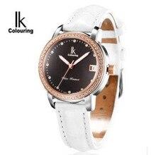 Ik механические часы женские элегантные модные женские часы женские часы ремешок горный хрусталь водонепроницаемые часы