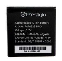 PAP4322 DUO 1500mah High Quality Replacement Li-ion Battery Battery for Prestigio PAP4322 DUO MultiPhone Battery стоимость
